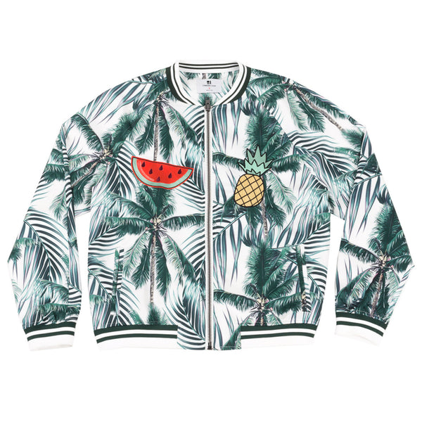 Palm Tree Embroidered Bomber