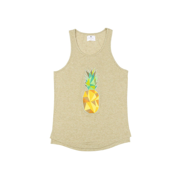Standard Issue Pineapple Embroidered Tank - Light Olive