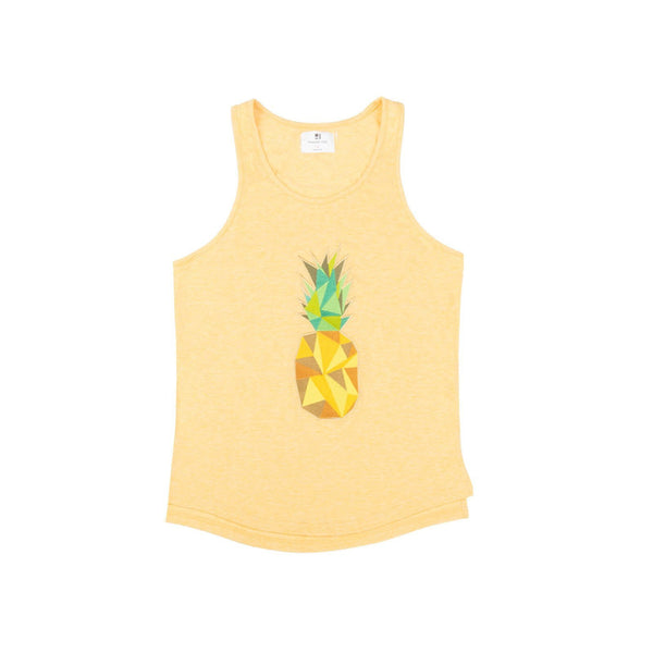 Standard Issue Pineapple Embroidered Tank - Yellow