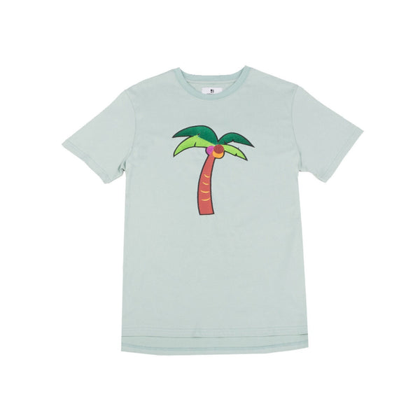 Standard Issue Palm Tree Embroidered Tee - Light Olive