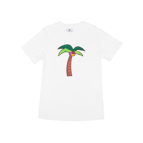 Standard Issue Palm Tree Embroidered Tee - White