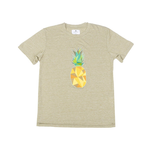 Standard Issue Pineapple Embroidered Tee - Light Olive
