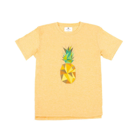 Standard Issue Pineapple Embroidered Tee - Yellow