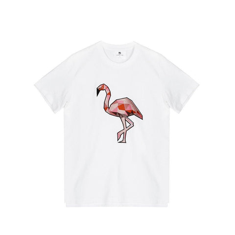Standard Issue Flamingo Embroidered Tee - White