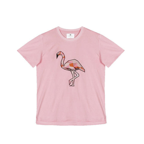 Standard Issue Flamingo Embroidered Tee - Pink