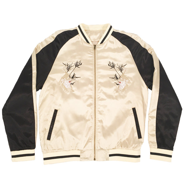 Unisex Gold/Black Tiger Souvenir Jacket