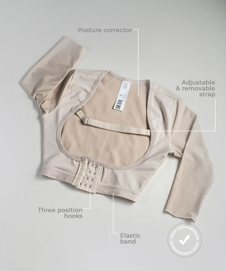 Posture corrector shapewear with sleeves / Ref: 1227