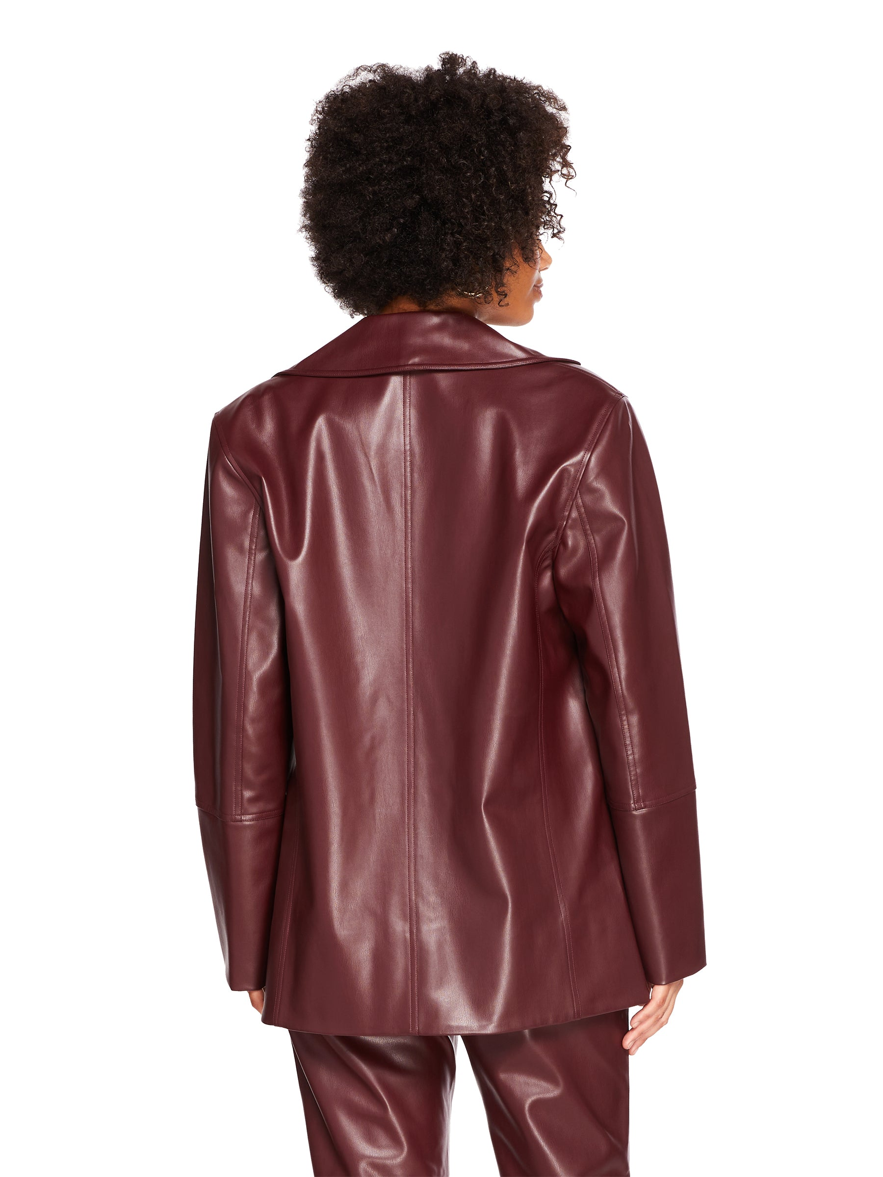Vegan Leather Oversized Blazer