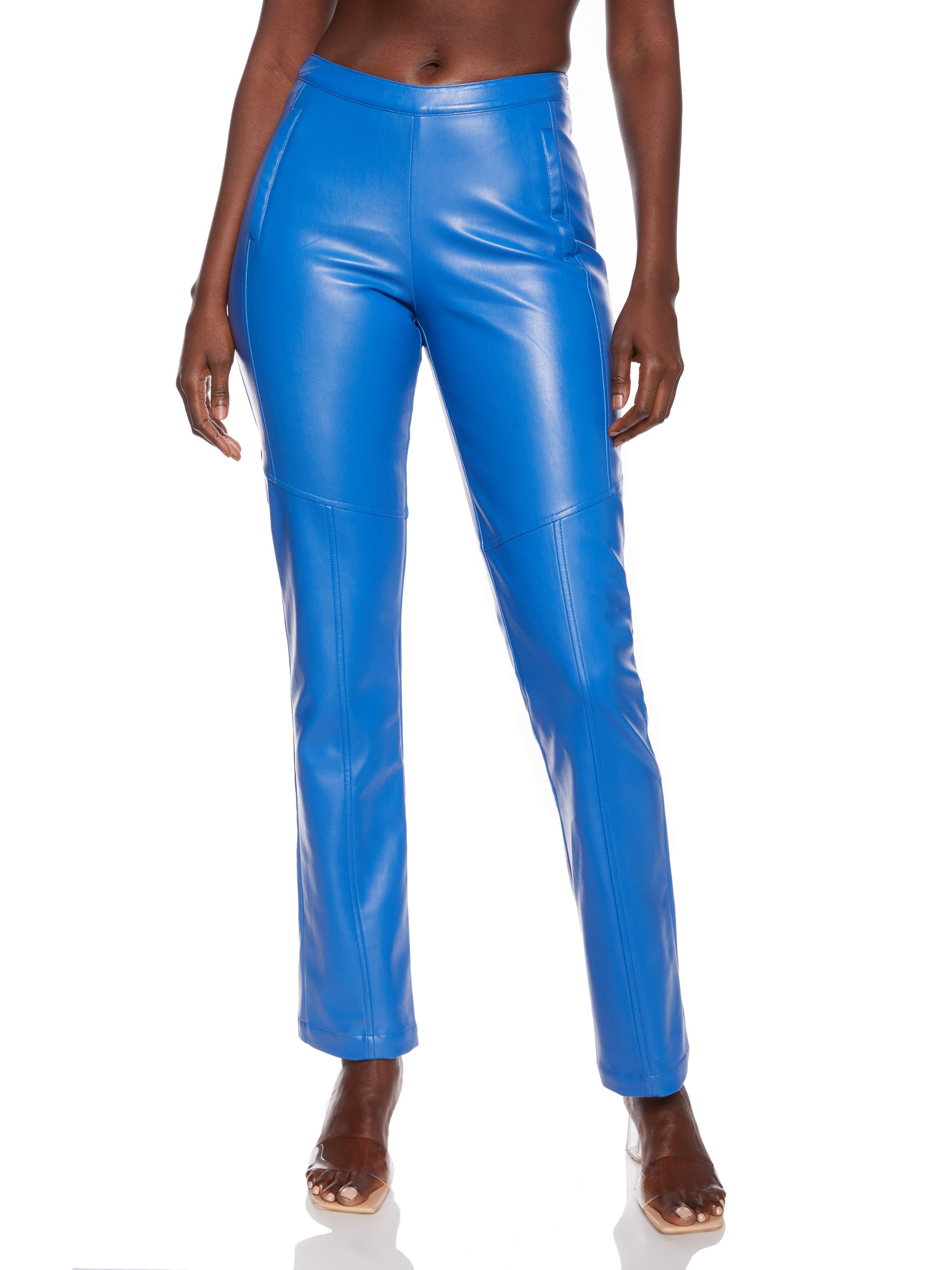 Cobalt Vegan Leather Pant