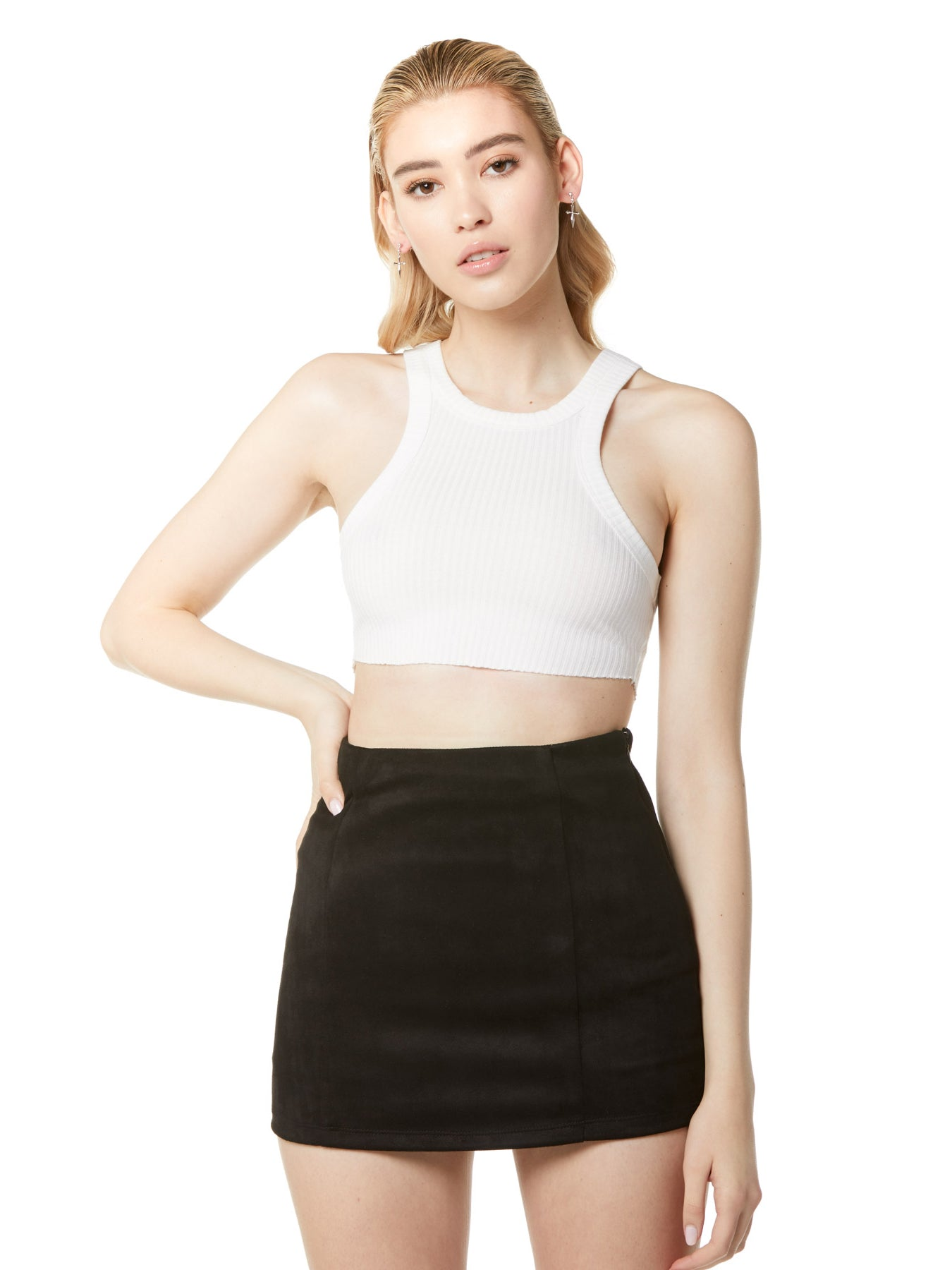 Vegan Suede Mini Skirt