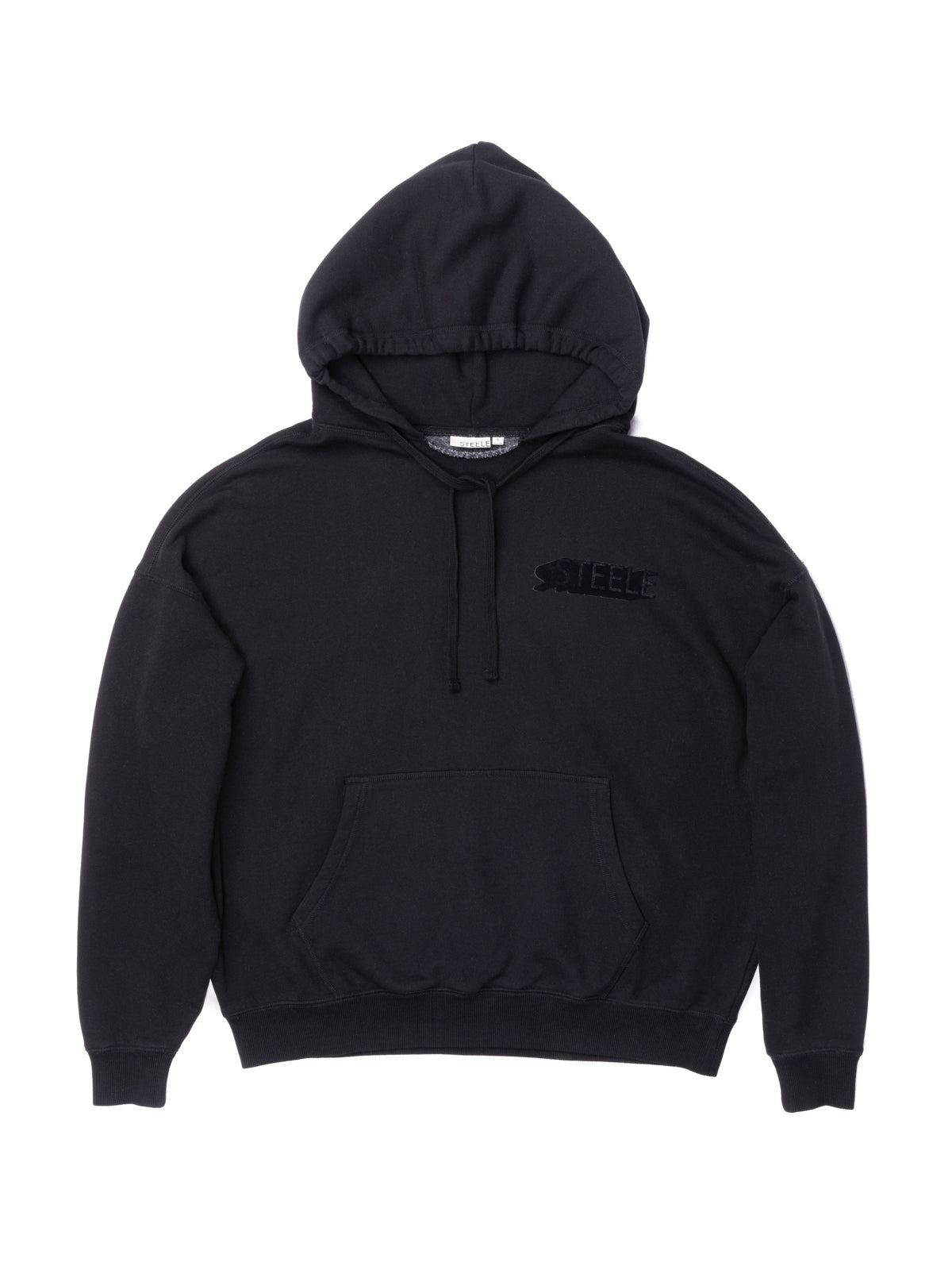 Flocking Logo Graphic Hoodie