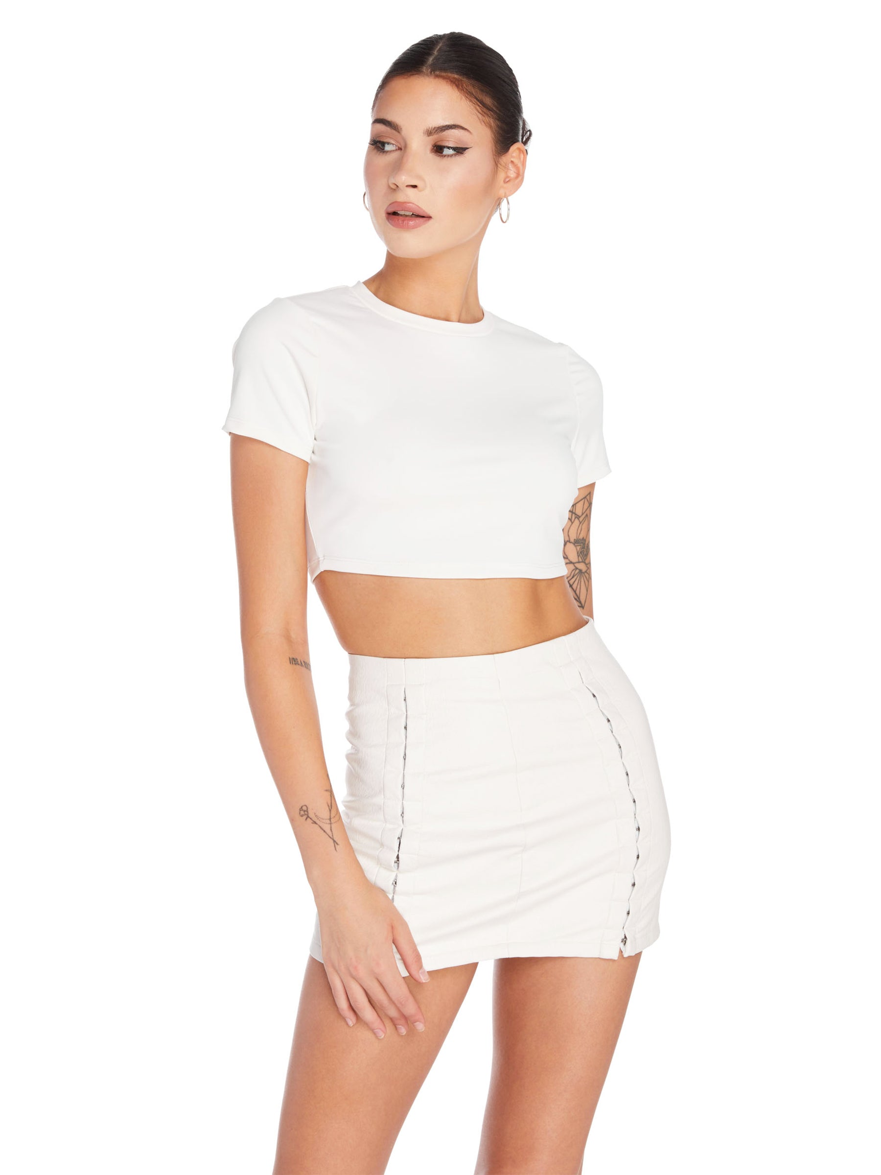 Hook & Eye Mini Skirt
