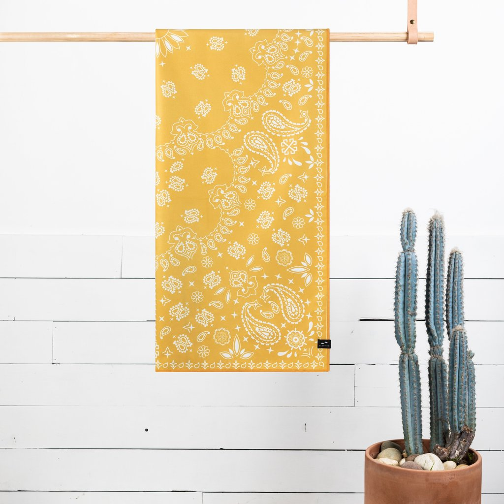 Slowtide Paisley Park Yellow Travel Towel