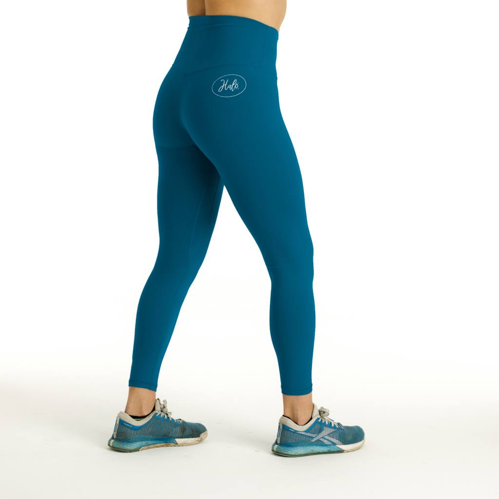 Halo 7/8 Squat Stretch Peacock Green Leggings