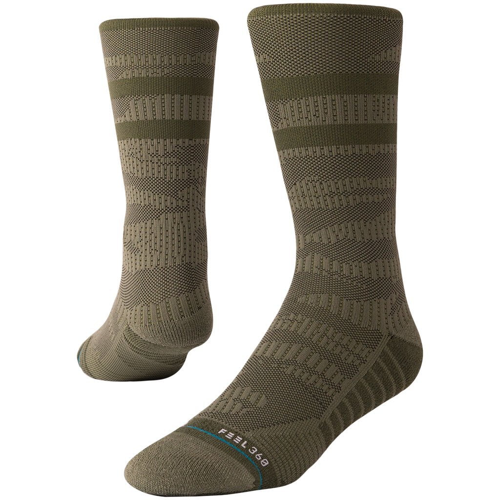 Stance Training Uncommon Solids Crew Olive