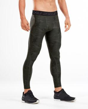 2XU Accelerate Print Compression Tights Ashphalt Duffel/Nero