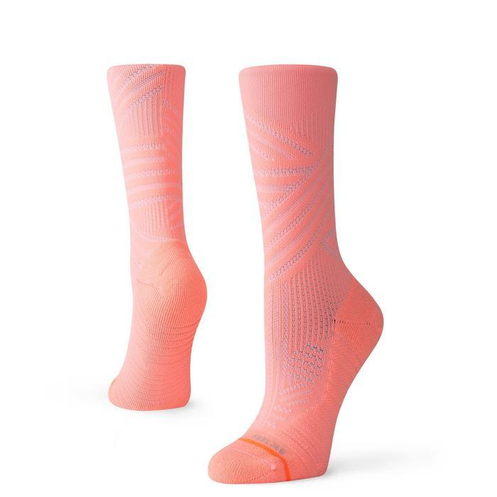 Stance Training Socks Uncommon Train Crew Womens Neon Coral
