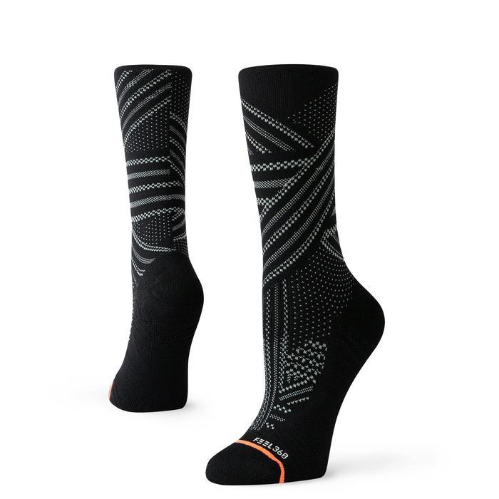 Stance Training Socks Uncommon Train Crew Womens Black Training Socks