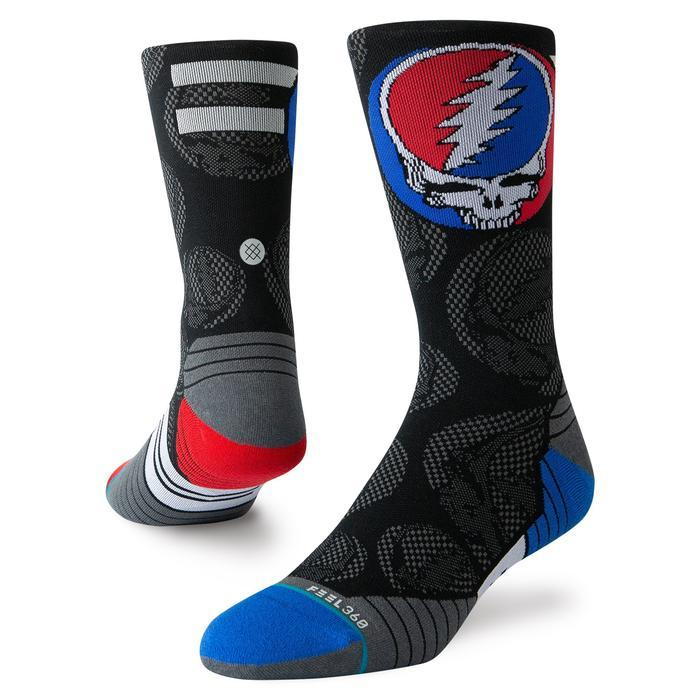 Stance Running Socks Dead Head Crew