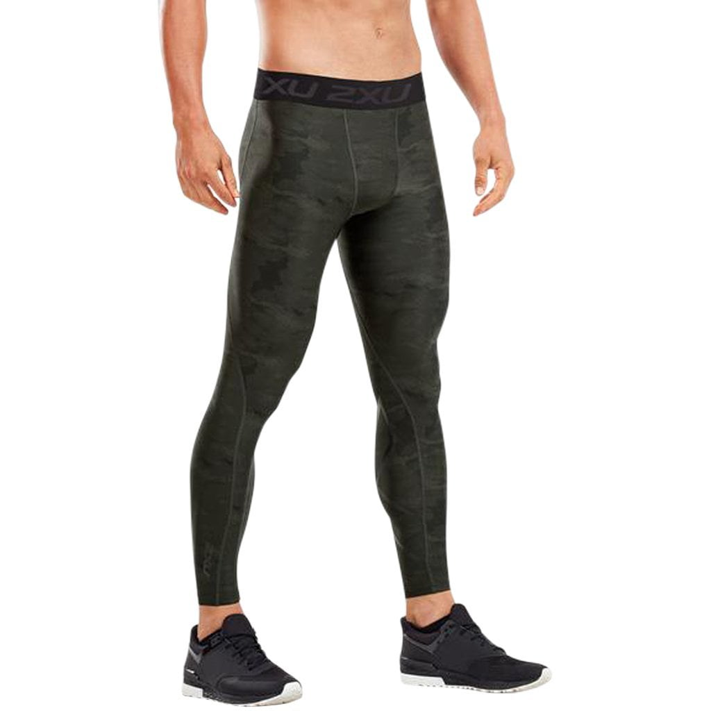 2XU Accelerate Print Compression Tights Black / Asphalt Duffel