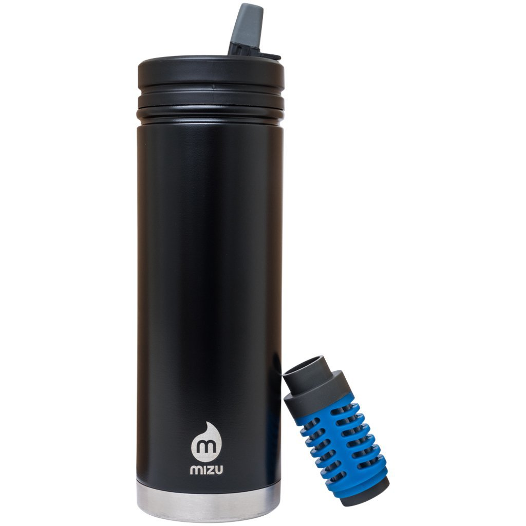 MIZU 360 - V7E Enduro Black (Straw Lid & Everyday Filter Included)