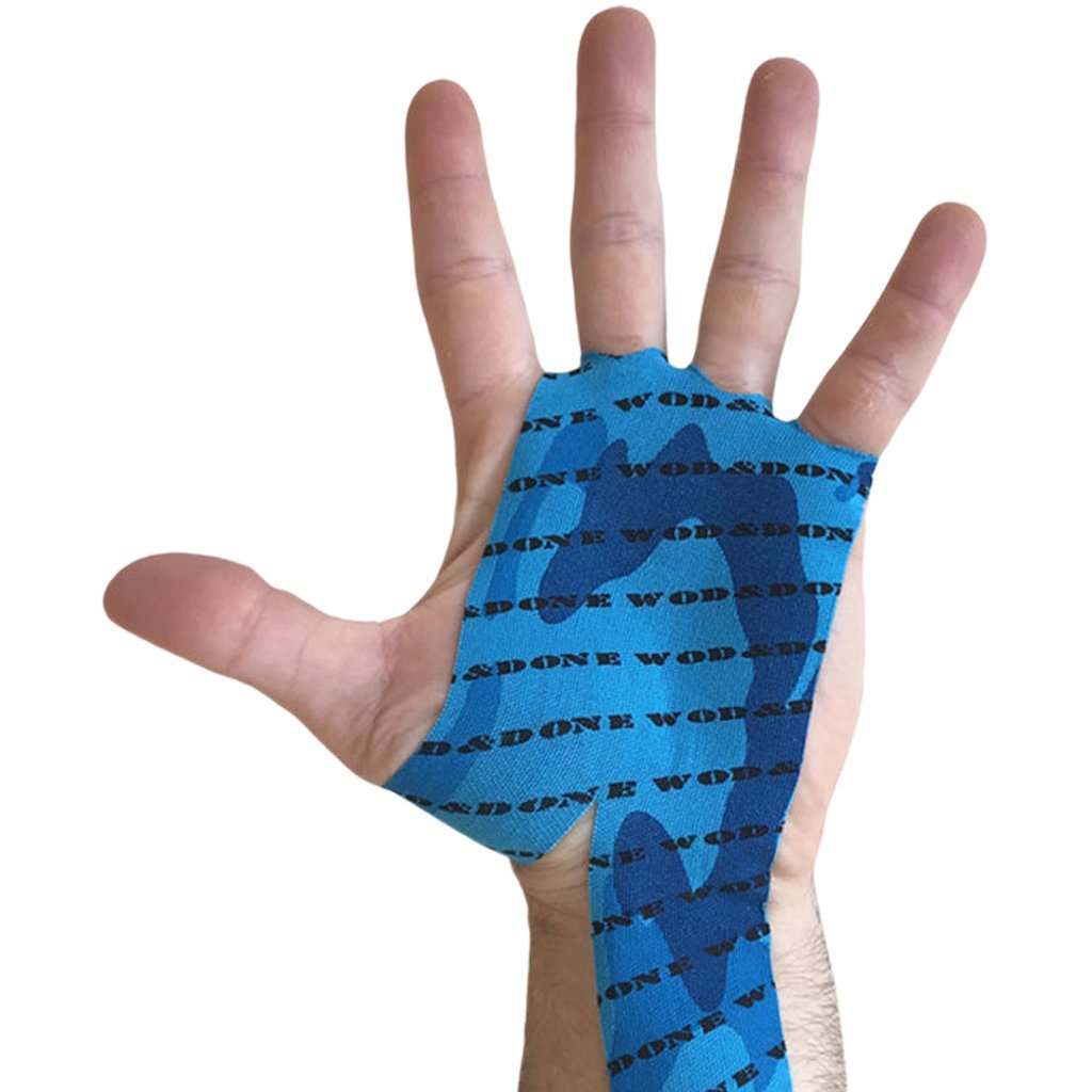 Wod & Done Hand Protection Blue Camo 10 pack