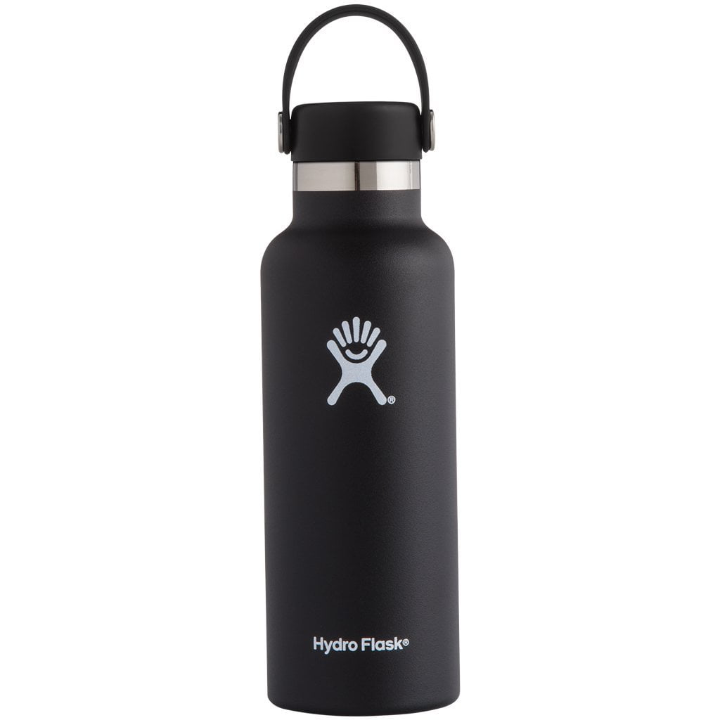 Hydro Flask 18oz Standard Mouth with Standard Flex Cap Black