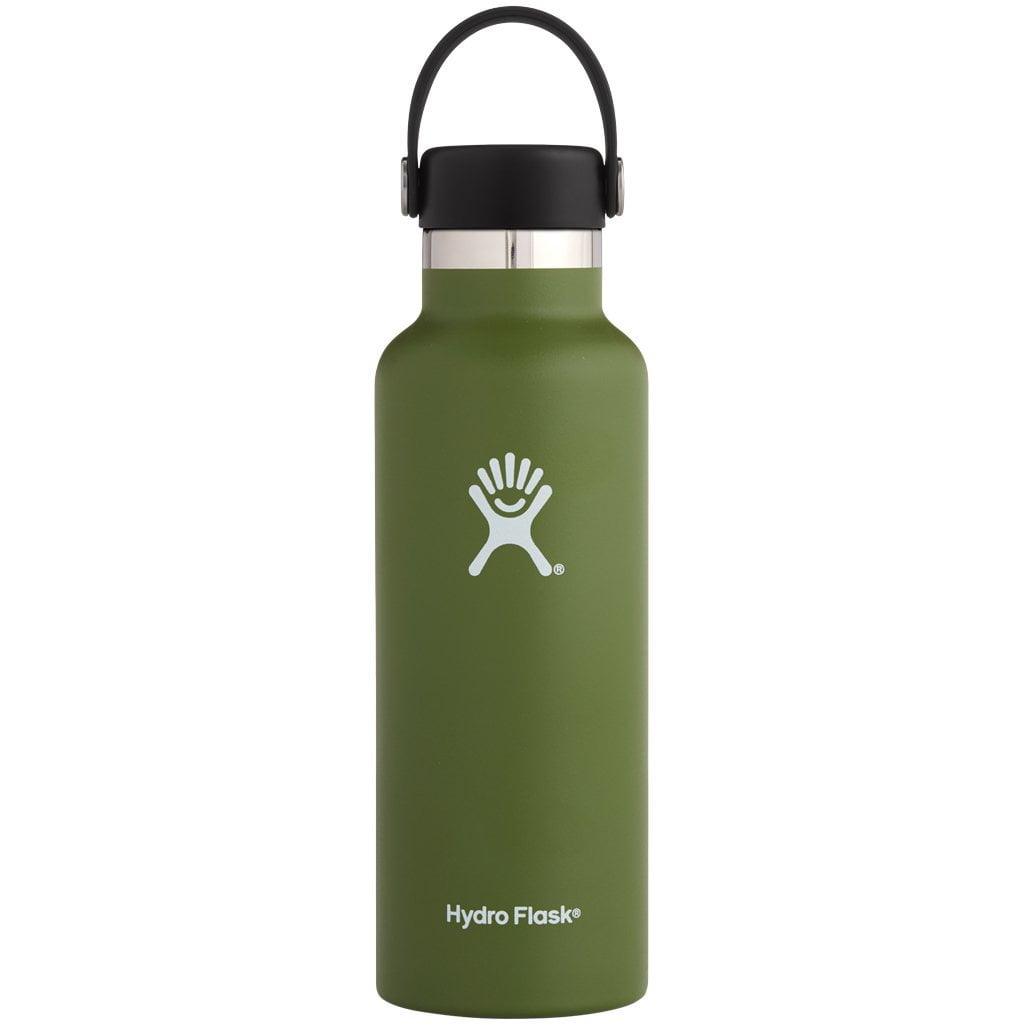 Hydro Flask 18oz Standard Mouth with Standard Flex Cap Olive