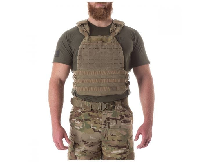 5.11 Tactec Plate Carrier Weighted Vest - Sandstone