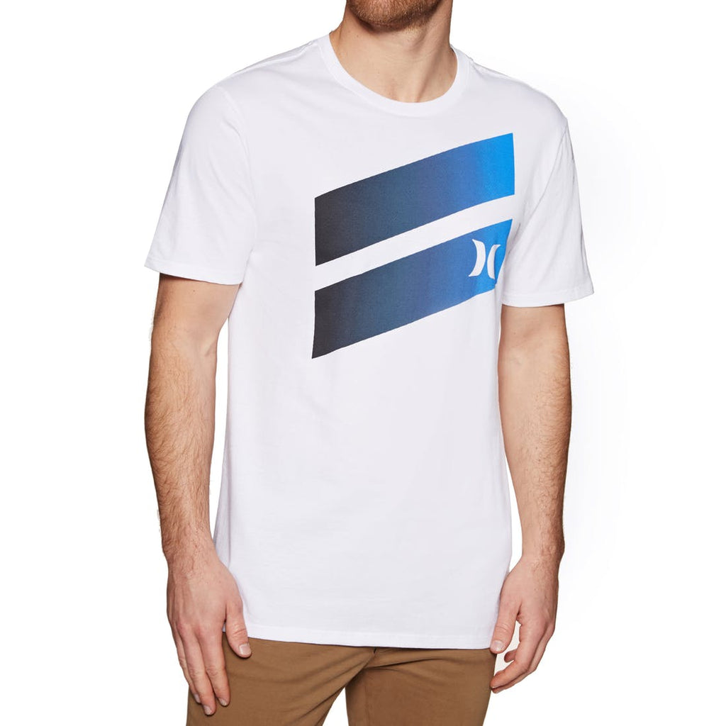 Hurley Icon Slash Gradient Tee White Black