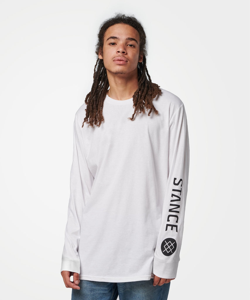 Stance Source Long Sleeve T-Shirt White