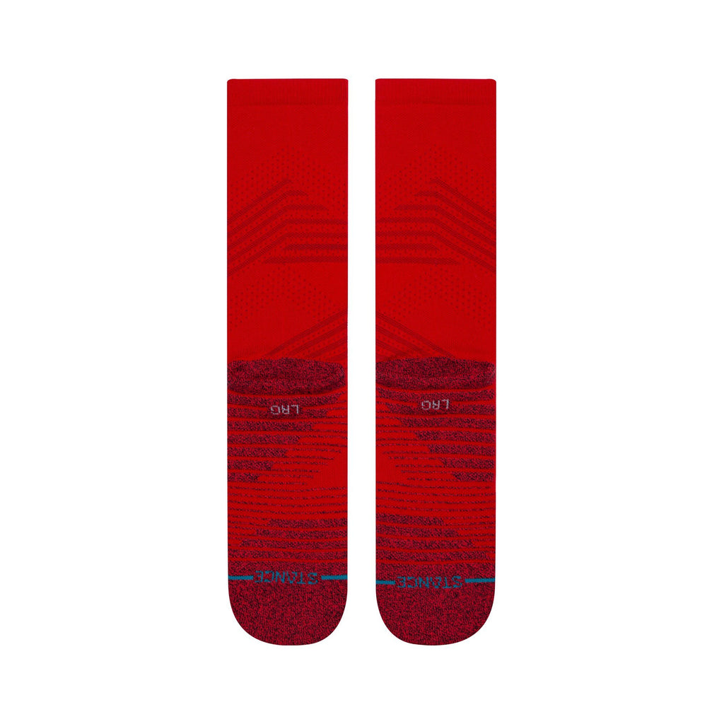 Stance Athletic Crew Red Training Socks