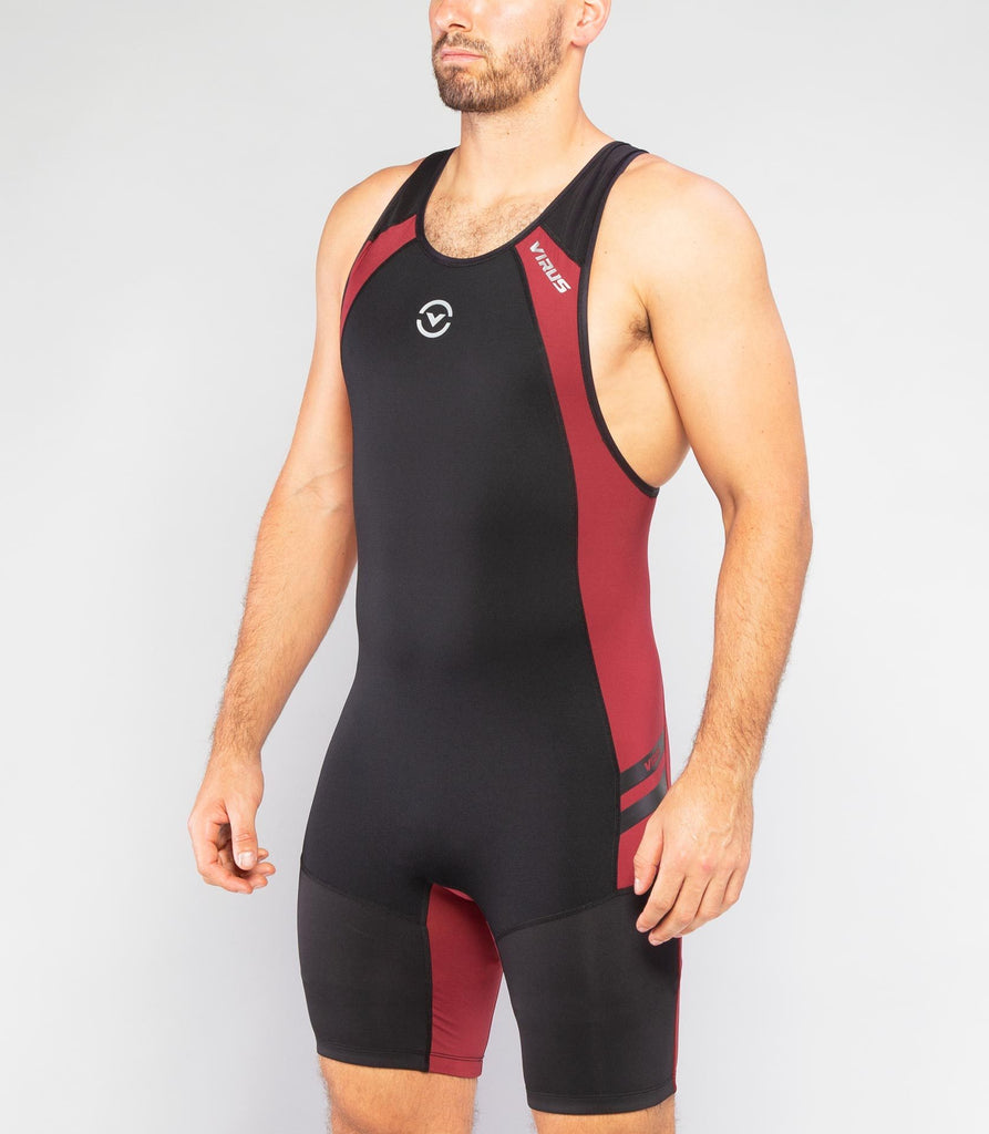 Virus Au12 | Bioceramic ELEVATE II Weightlifting Singlet Black / Maroon