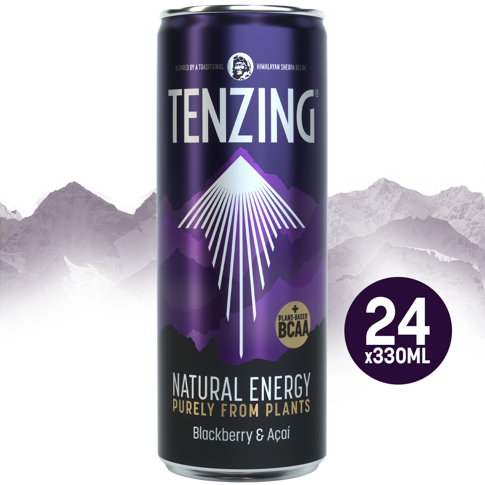 Tenzing Natural Energy BCAA Blackberry & Acai - 24 x 330ml