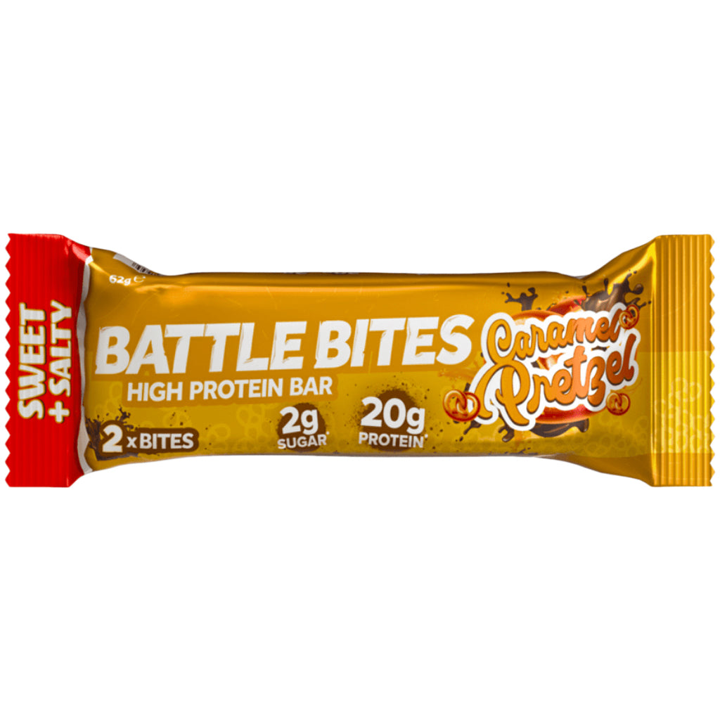 Battle Bites Caramel Pretzel Bar 62g