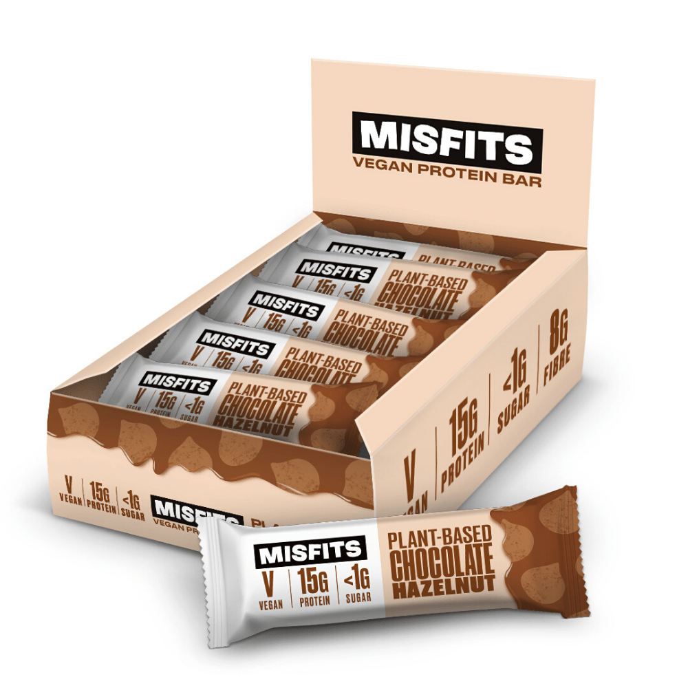 Misfits Vegan Protein Bar - Chocolate Hazelnut - 12 x 45g