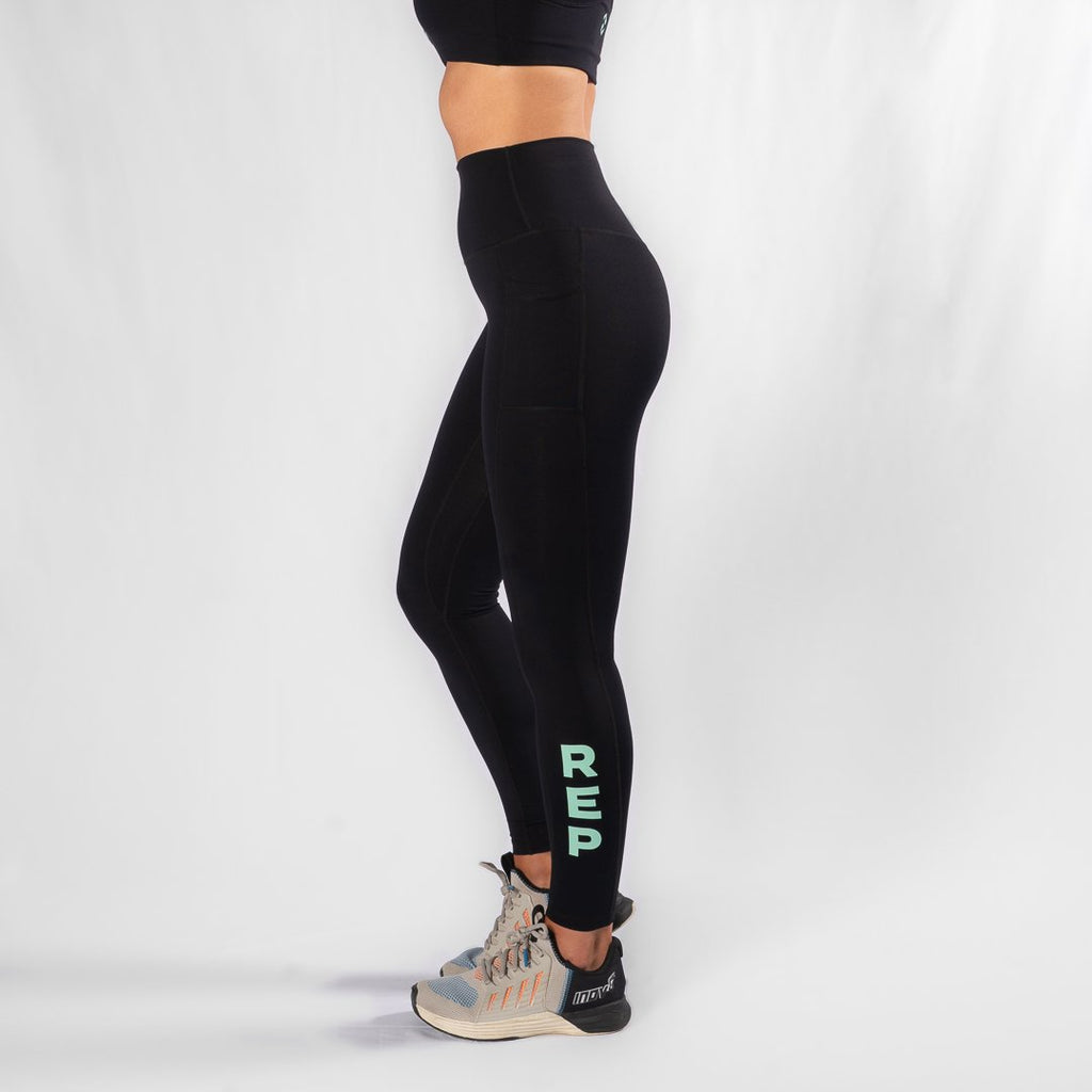 Heavy Rep Gear Nuluxe HVY REP Black / Neo Mint Leggings