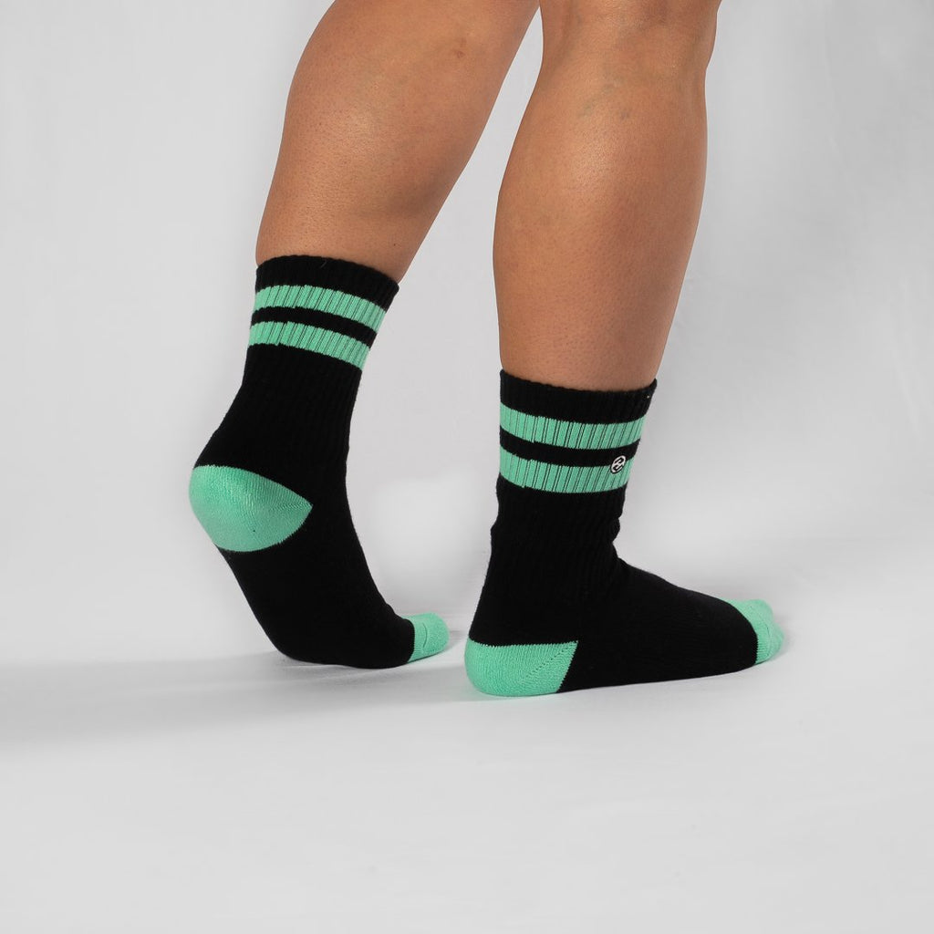 Heavy Rep Gear Strike 2 Black / Neo Mint Sock