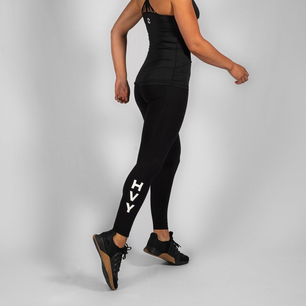 Heavy Rep Gear Nuluxe HVY REP Black / White Leggings