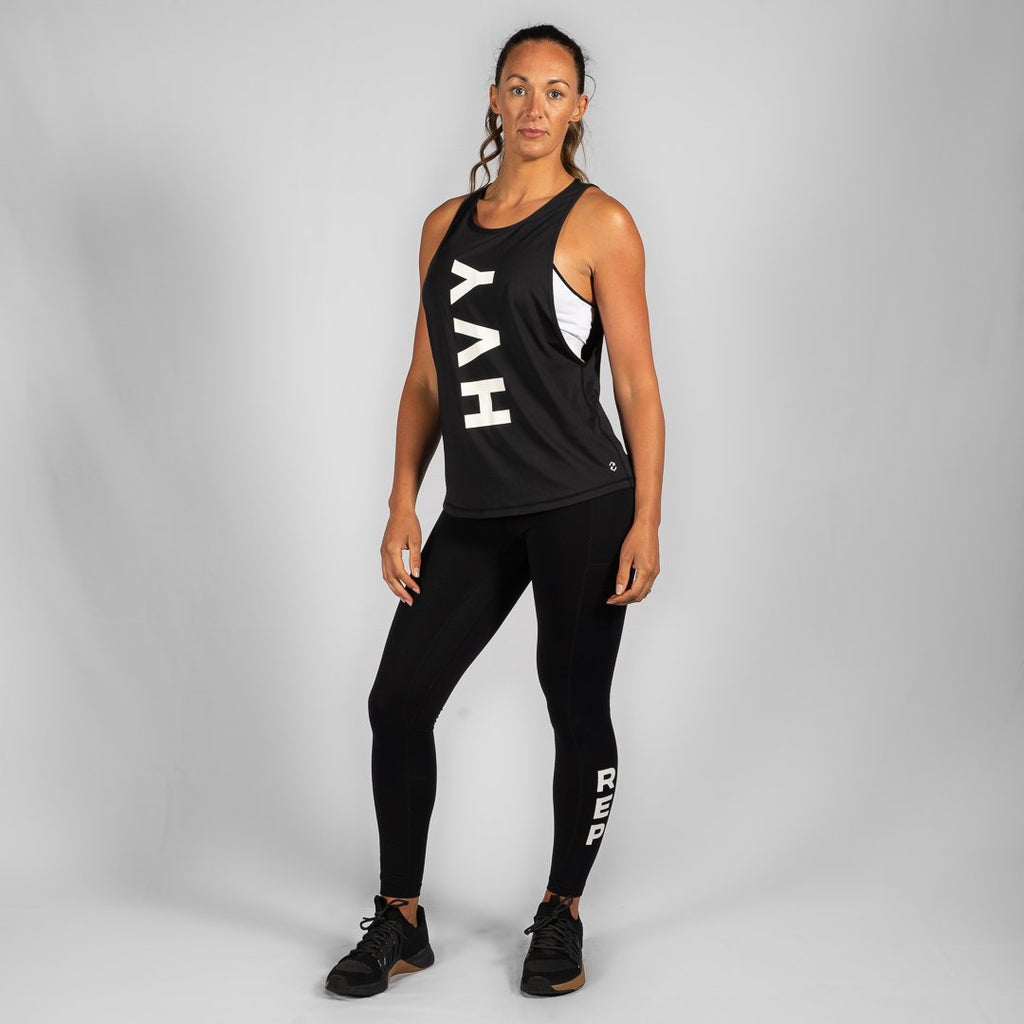 Heavy Rep Gear Team HVY REP Black / White Muscle Tank