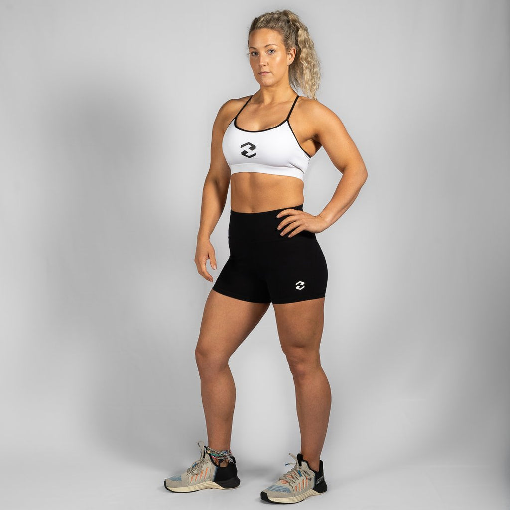 Heavy Rep Gear Perfect Fit HVY REP Black / White Booty Shorts