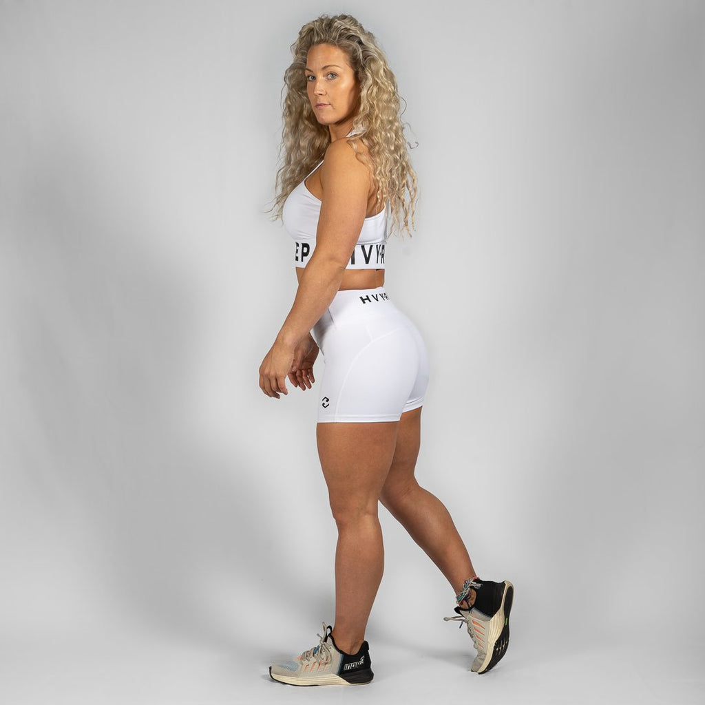 Heavy Rep Gear Perfect Fit HVY REP White / Black Booty Shorts