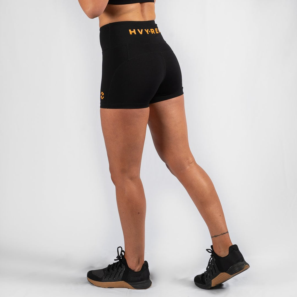 Heavy Rep Gear Perfect Fit HVY REP Black / Mustard Booty Shorts