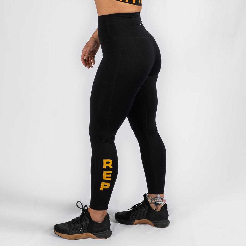 Heavy Rep Gear Nuluxe HVY REP Black / Mustard Leggings