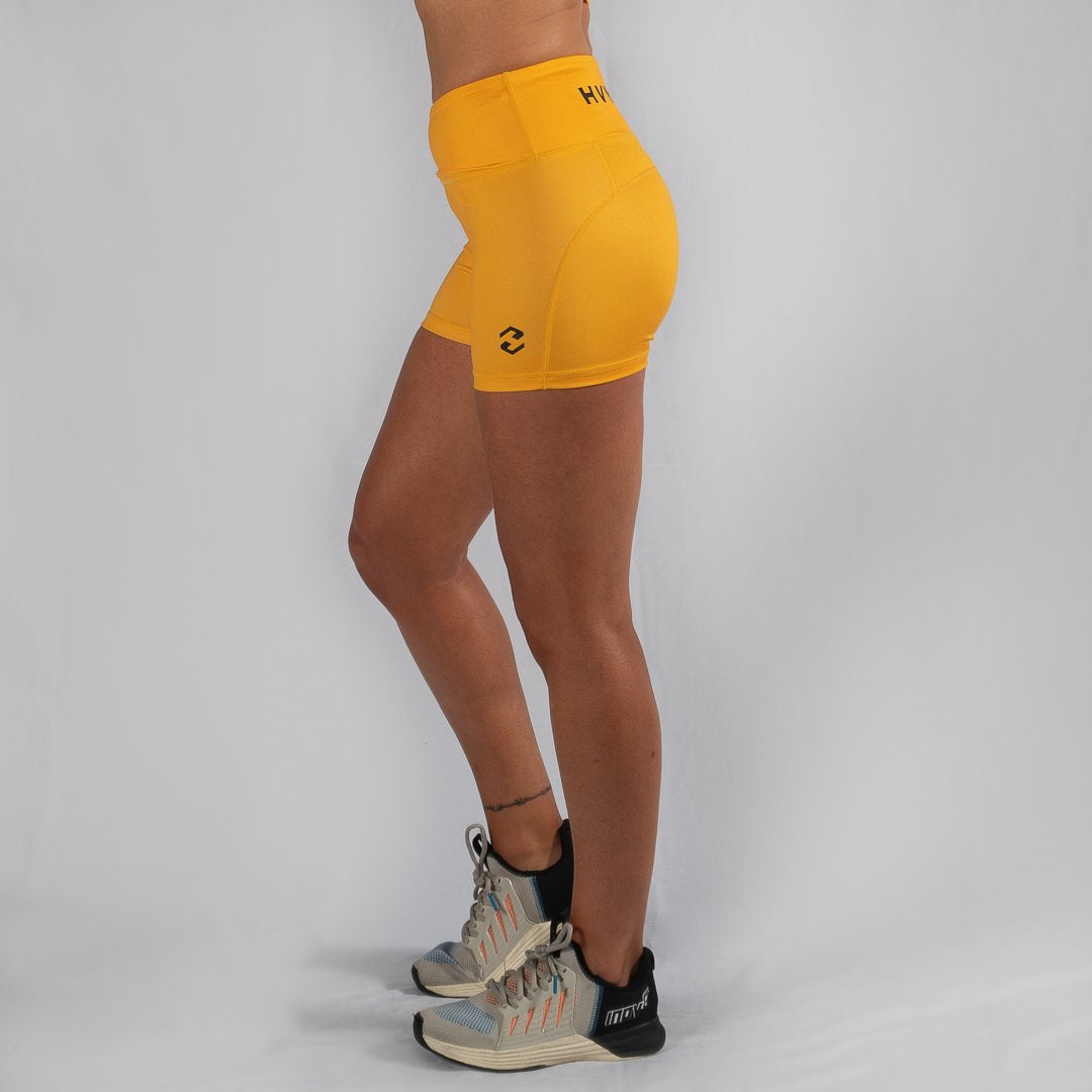 Heavy Rep Gear Perfect Fit HVY REP Mustard / Black Booty Shorts