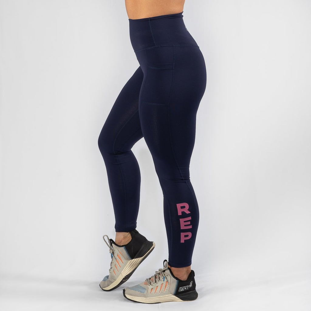 Heavy Rep Gear Nuluxe HVY REP Navy / Kiss Pink Leggings