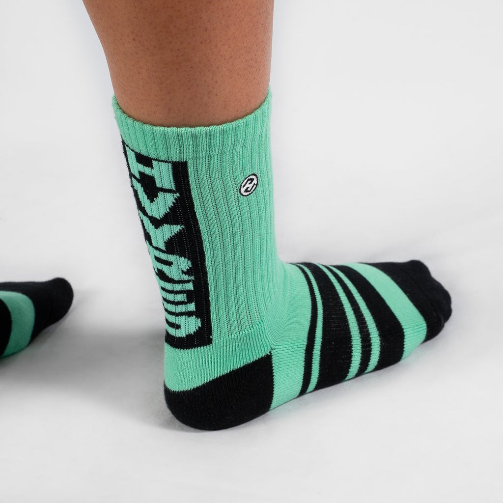 Heavy Rep Gear Vertigo HVY REP Neo Mint / Black Sock