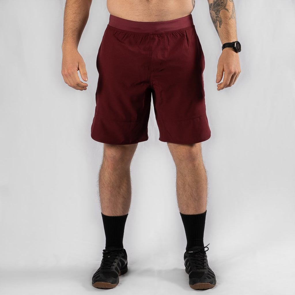 "Heavy Rep Gear Heavy Rep Gear MotionForce 3.0 Maroon / White 10"" Training Shorts"