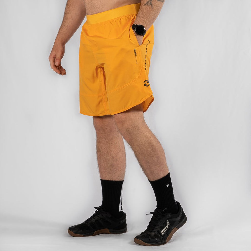 "Heavy Rep Gear MotionForce 3.0 Mustard / Black 10"" Training Shorts"