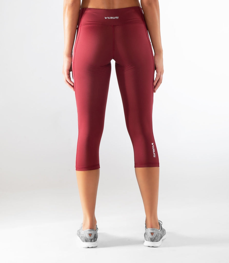 Virus ECo34 | Stay Cool Compression Crop Pant Dark Berry